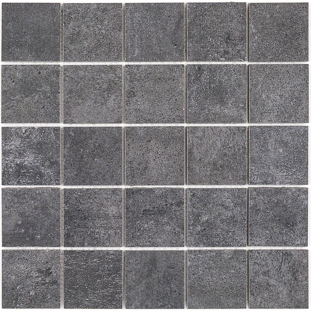 Ivy Hill Tile Malaga Gray 11.62 in. x 11.62 in. 9.5mm Matte Porelain Mosaic Floor and Wall Tile (0.94 sq. ft. per Sheet)