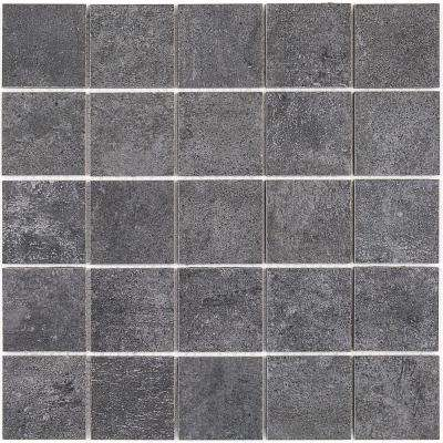 Malaga Gray 11.62 in. x 11.62 in. 9.5mm Matte Porelain Mosaic Floor and Wall Tile (0.94 sq. ft. per Sheet)
