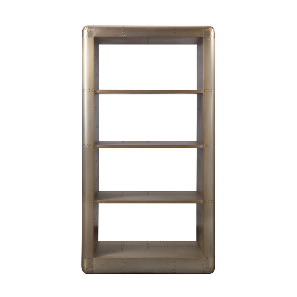 Jennavieve Gold Aluminum Bookcase