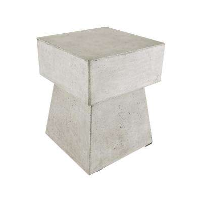 18 in. Mushroom Gray Polished Concrete Stool