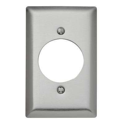 302 Series 10-Gang 1.75 in. Hole Power Outlet Wall Plate, Stainless Steel