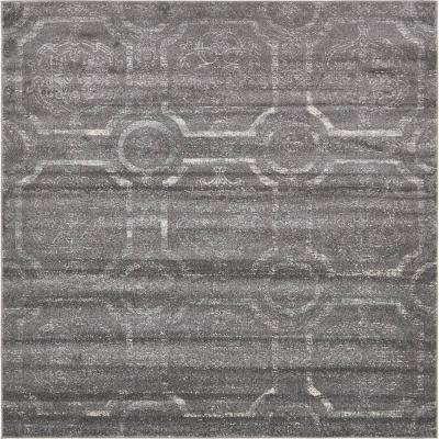 Stockholm Dark Gray 8 ft. x 8 ft. Square Area Rug