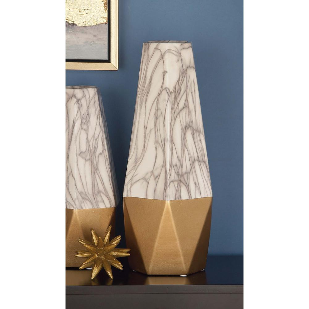 18 in gold and white marble paneled decorative vase 60747 the gold and white marble paneled decorative vase 60747 the home depot reviewsmspy