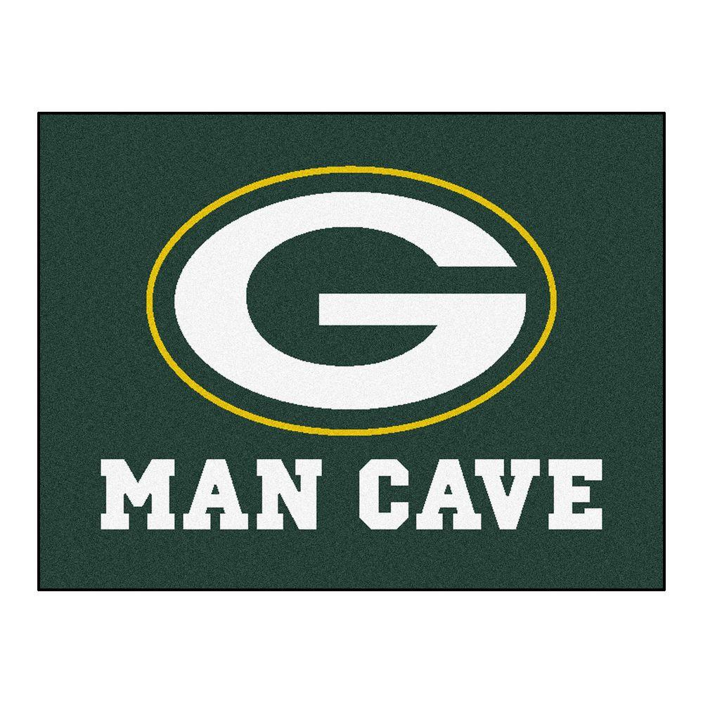 Fanmats Green Bay Packers Green Man Cave 3 Ft X 4 Ft