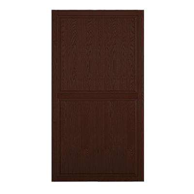 Solid Oak Double End Side Panel for 24 in. D Executive Wood Locker in Dark Oak