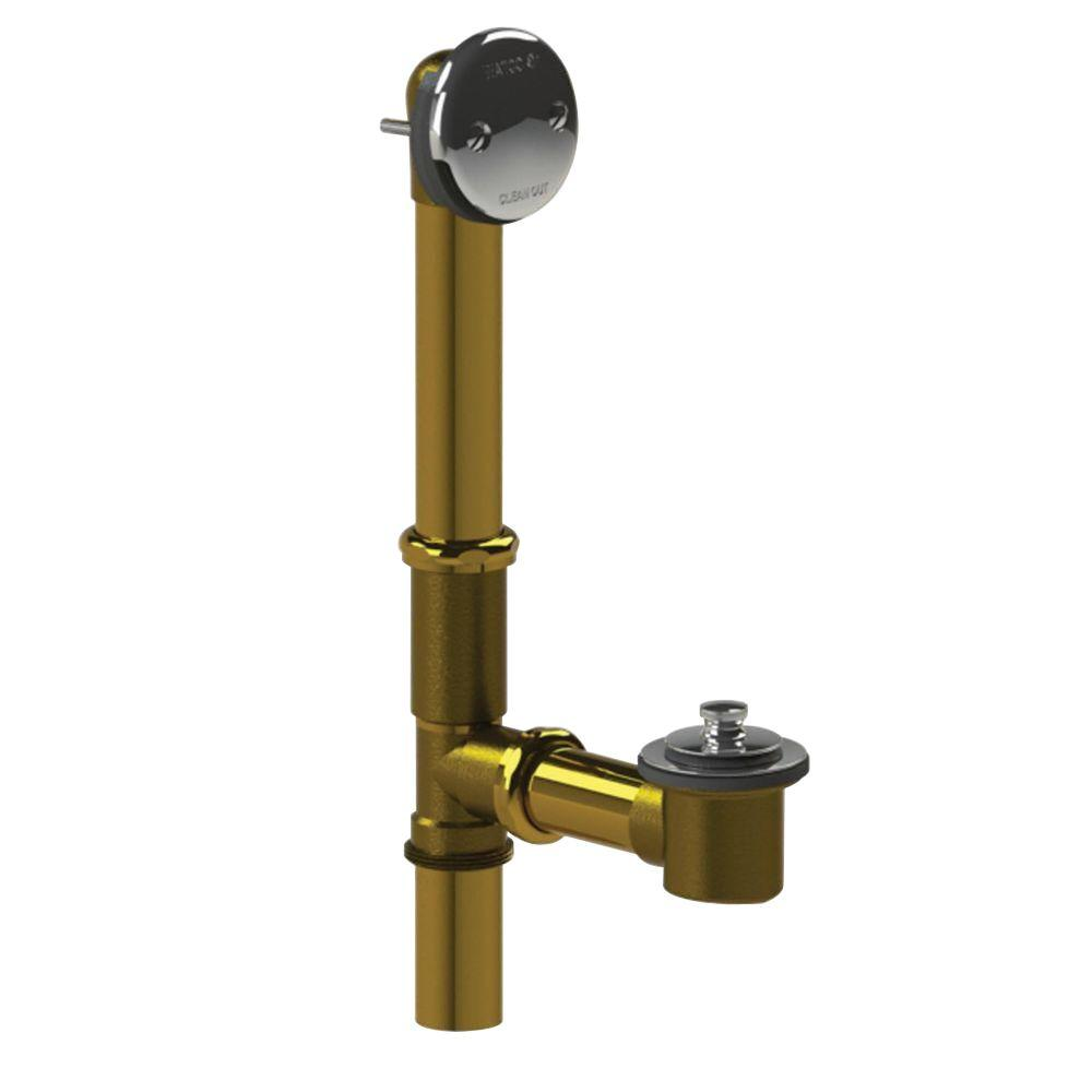 Watco 501 Series 16 in. Tubular Brass Bath Waste with Lift and Turn ...