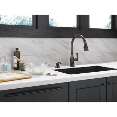 Charmaine Single-Handle Pull-Down Sprayer Kitchen Faucet with Touch2O and Shield Spray Technologies in Venetian Bronze