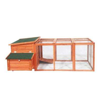 Wooden Chicken Coop with Chicken Run