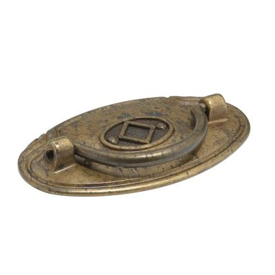 2-1/2 in. (64 mm) Center-to-Center Spotted Bronze Traditional Pendant and Ring Pull