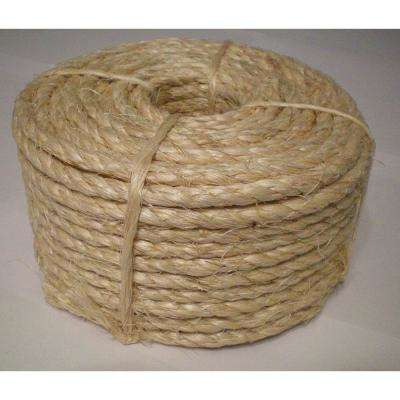 1/4 in. x 50 ft. 3-Strand Sisal Twisted Rope (2-Pack)