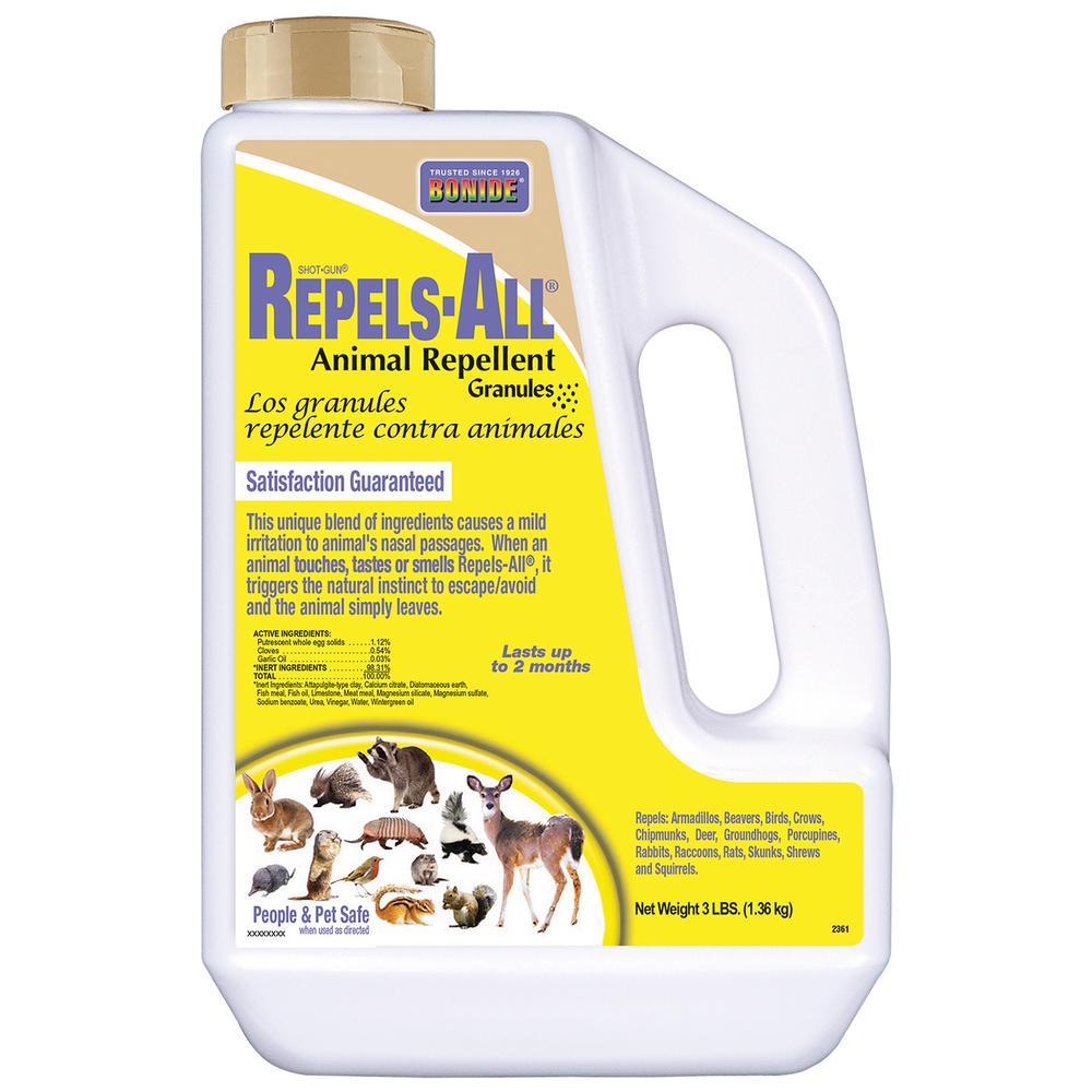 Bonide 3 Lbs Repels All Animal Repellent Granules 2361 The Home Depot