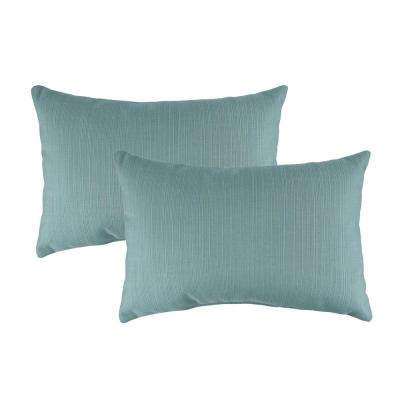 Sunbrella Dupione Celeste Boudoir Outdoor Pillow (set of 2)
