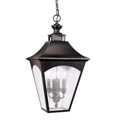 Homestead 4-Light Oil Rubbed Bronze Outdoor Pendant