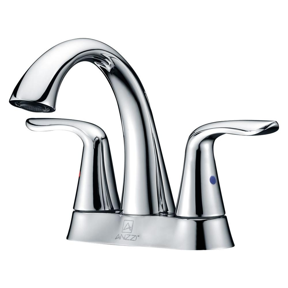 Cadenza Series 4 in. Centerset 2-Handle High-Arc Bathroom Faucet in Polished