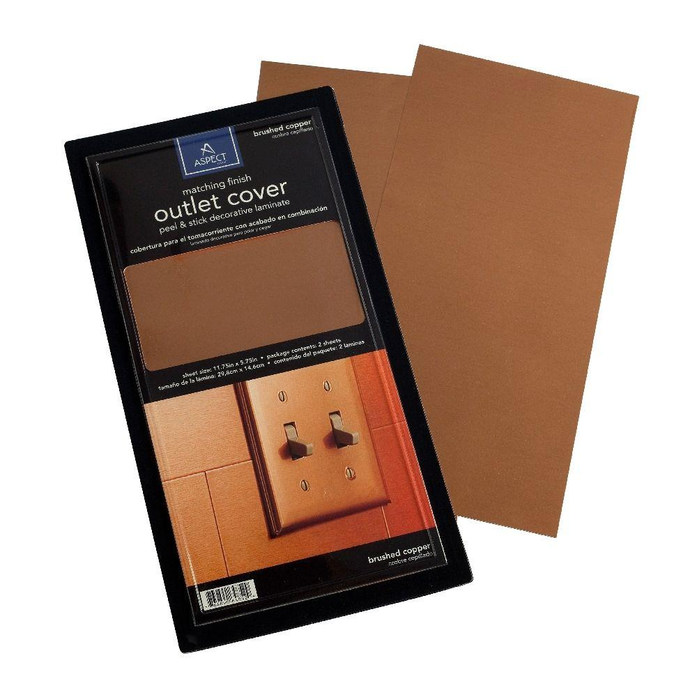 Aspect Vinyl Peel and Stick Copper Outlet Cover (2-Pack)