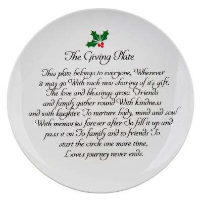"10.5"" D Holly Berry Giving Plate"