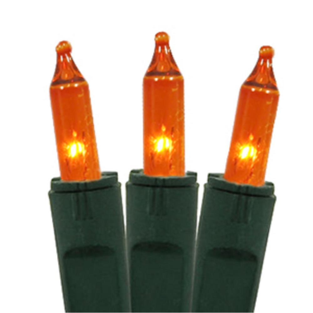 Mini Christmas Lights.Gki Bethlehem Lighting Set Of 50 Orange Perm O Snap Mini Christmas Lights Green Wire