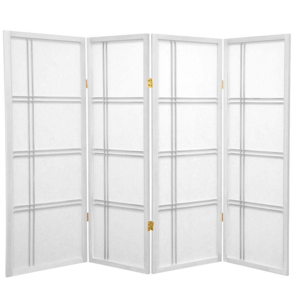 4 ft White 4 Panel Room Divider DC48 WHT 4P The Home Depot