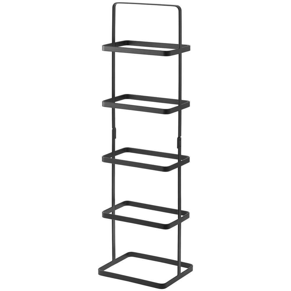 new product a861c 538f9 Yamazaki Home Tower 5-Pair Black Tall Steel Shoe Rack