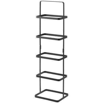 Tower 5-Pair Black Tall Steel Shoe Rack