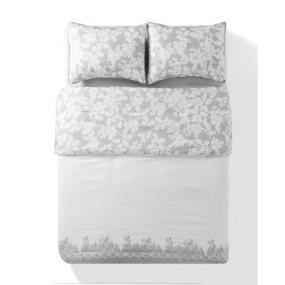 Ainna Kensie Reversible 3 Piece Queen Duvet Set in Grey