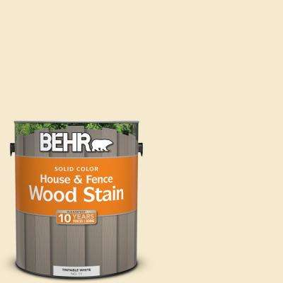 1 gal. #360E-1 Creme Brulee Solid Color House and Fence Exterior Wood Stain