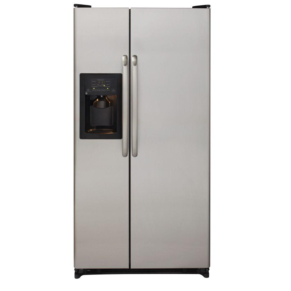 GE 33.5 in. W 21.9 cu. ft. Side by Side Refrigerator in Stainless Steel