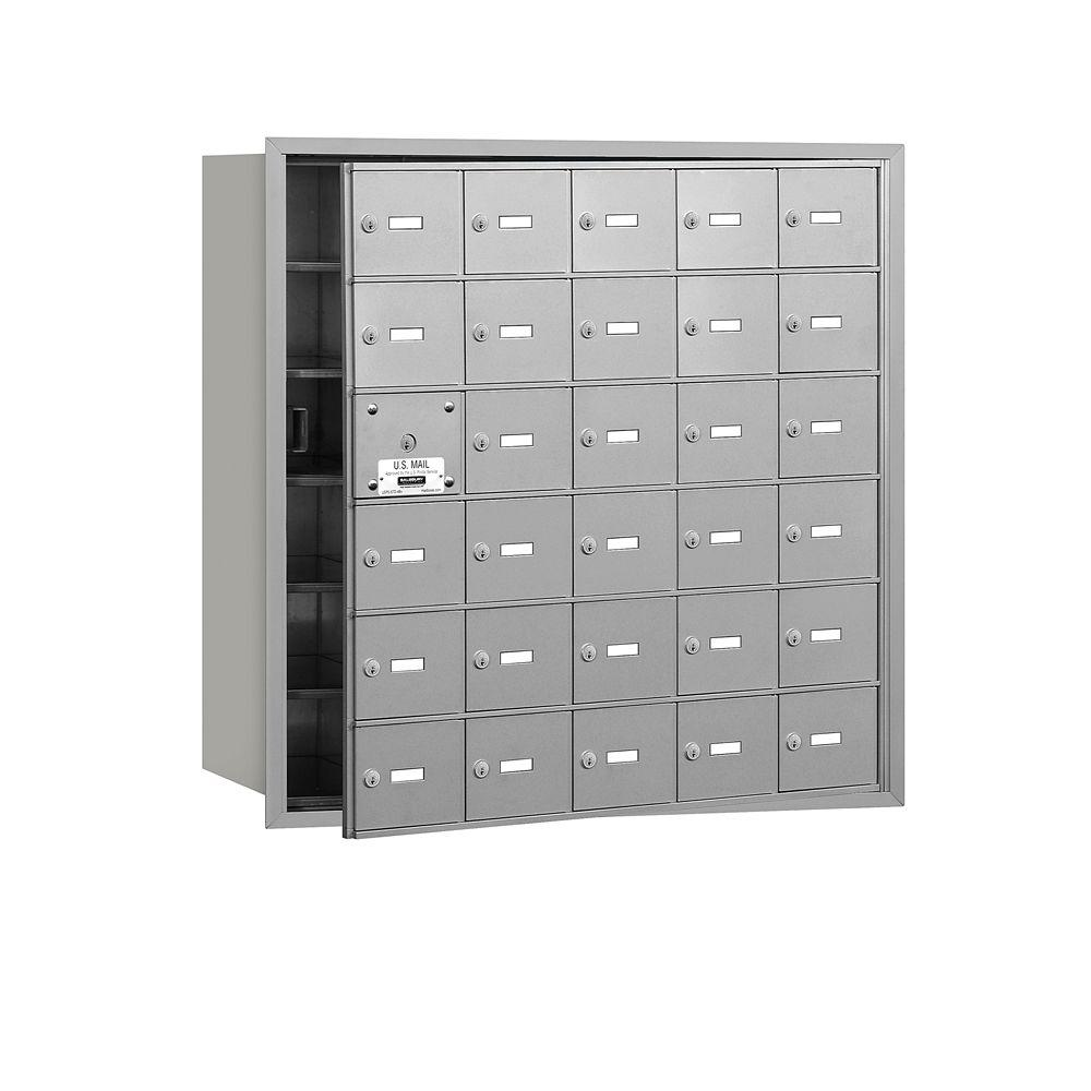 Aluminum USPS Access Front Loading 4B Plus Horizontal Mailbox with 30A