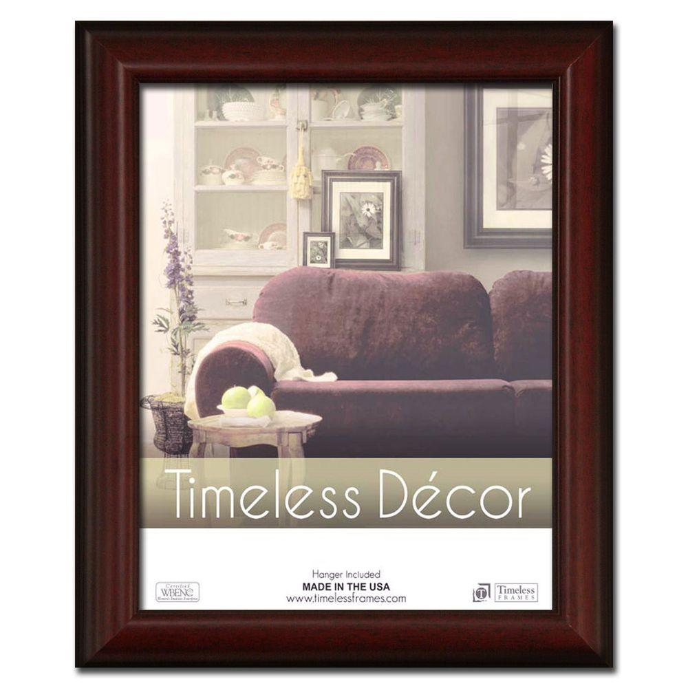 Huntley 1-Opening 11 in. x 14 in. Cherry Picture Frame