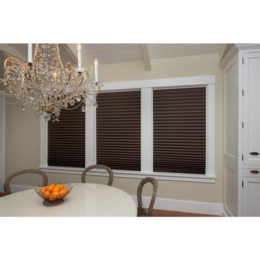 Chocolate Brown Paper Pleated Shade - 48 in. W x 72