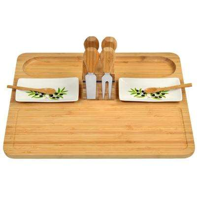 Sherborne Bamboo Cheese Board Set with 4 Tools