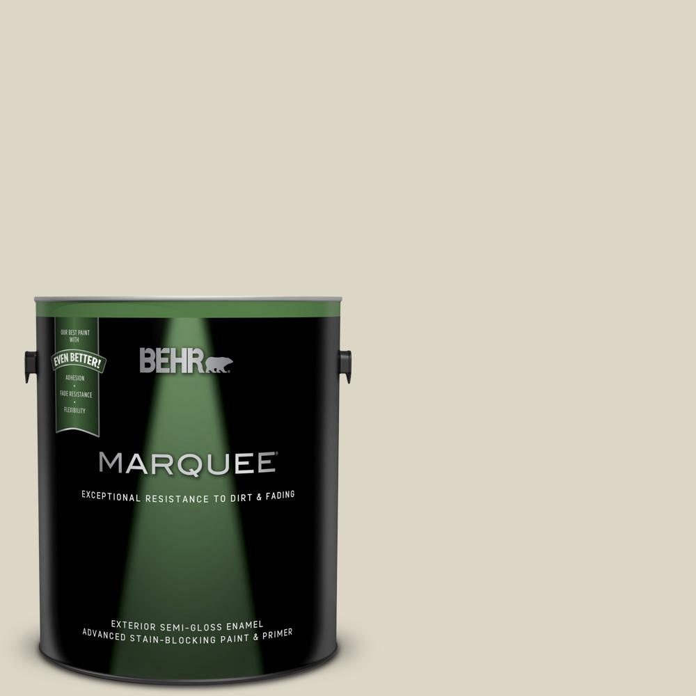 Behr Marquee 1 Gal Ppu8 15 Stonewashed Semi Gloss Enamel Exterior Paint And Primer In One 545001 The Home Depot