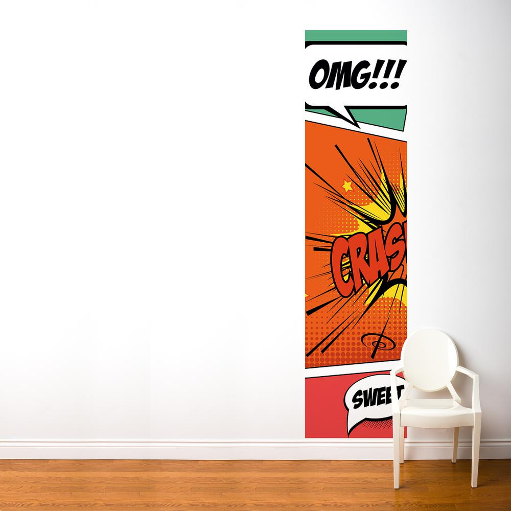 Multi-Color Pop Comic Wall Decal  sc 1 st  Home Depot & 24 in. x 96 in. Multi-Color Pop Comic Wall Decal-FR093-A - The Home ...