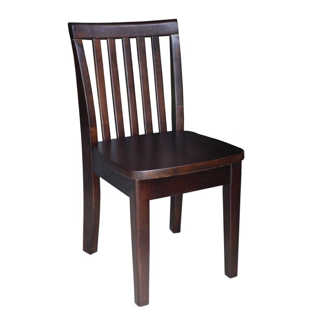 International Concepts Mocha Wood Kids Chair Set Of 2