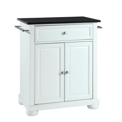 Alexandria Portable Kitchen Island with Granite top