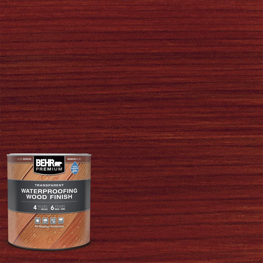 1 qt. #T-330 Redwood Transparent Waterproofing Exterior Wood Finish