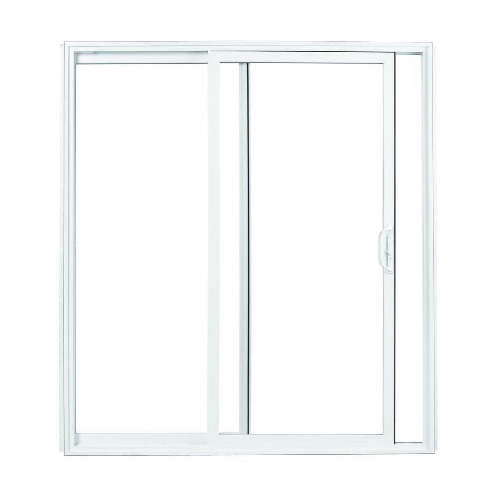 American Craftsman 72 In. X 80 In. 70 Series White Vinyl Sliding Patio Door