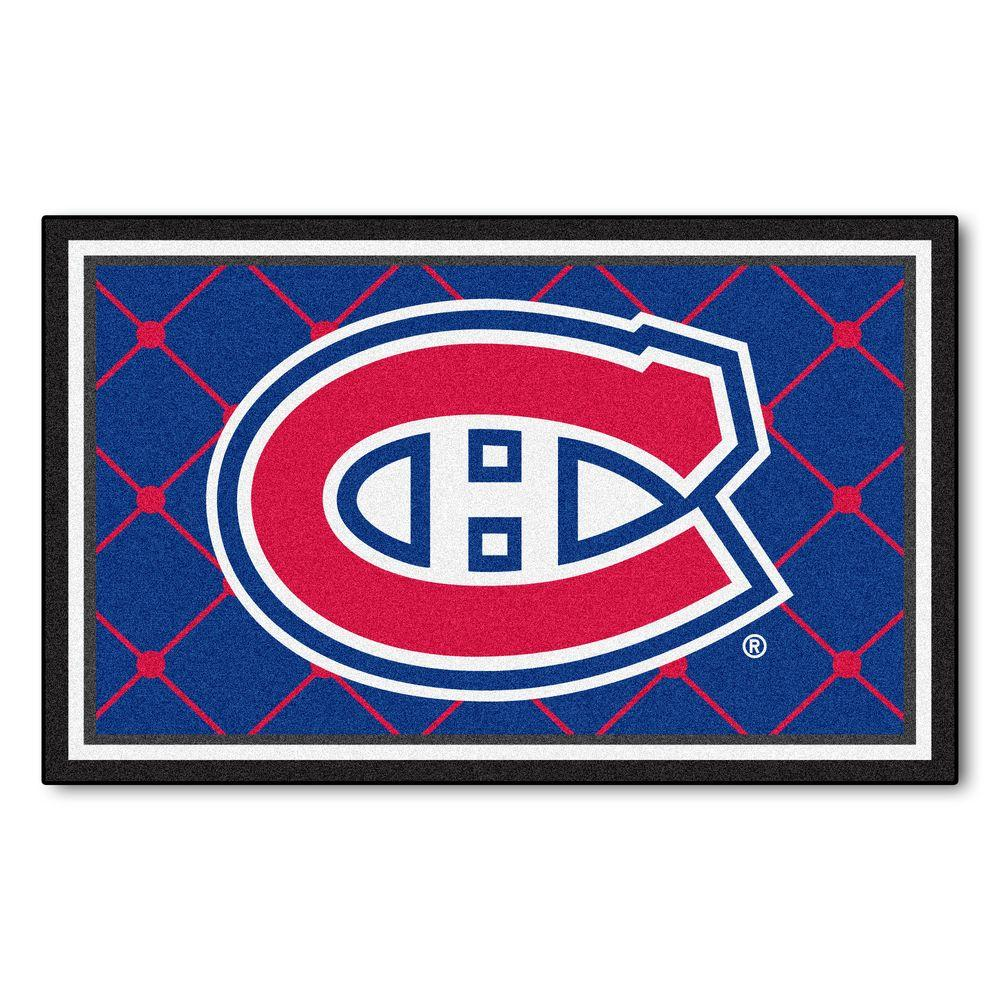 FANMATS Montreal Canadians 4 ft. x 6 ft. Area Rug