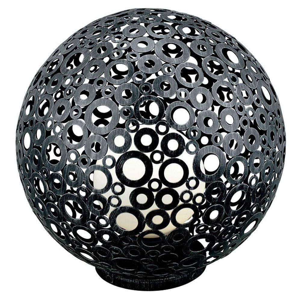 null Ferroterra 18 in. 1-Light Black Floor Lamp