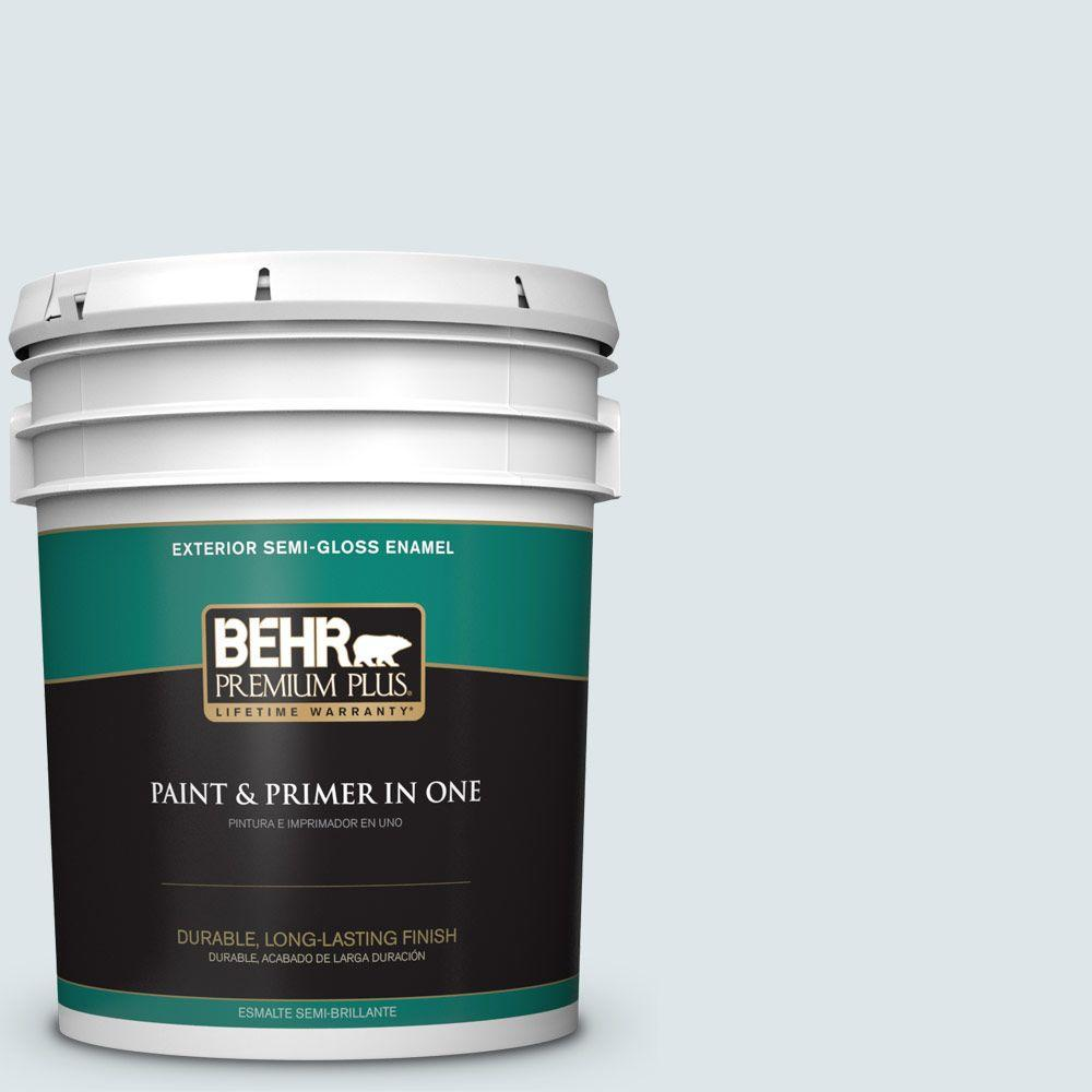 5-gal. #BL-W3 Blue Bird Day Semi-Gloss Enamel Exterior Paint