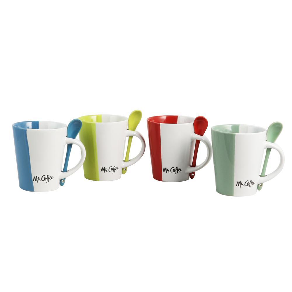 Caf Roma 14 oz. Assorted Color Mugs (Set of 4)