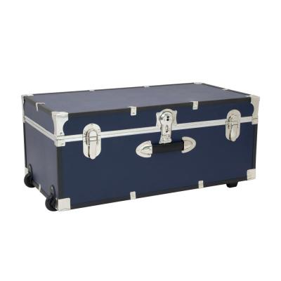 Seward Rover 30 in. Blue Trunk with Wheels and Lock, 12.25 in H x 15.75 in D, Engineered wood