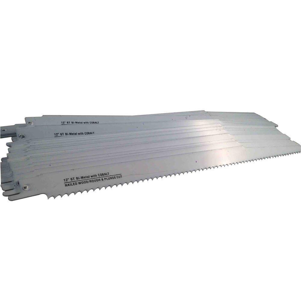 12 in. x 3/4 in. x 0.050 in. 6 Teeth per in. Wood Cutting Bi-Metal Reciprocating Saw Blade (50-Pack)