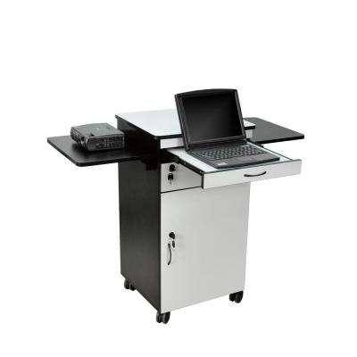 Presentation 23.75 in. W x 18.875 in. L Multimedia Presentation Cart Gray