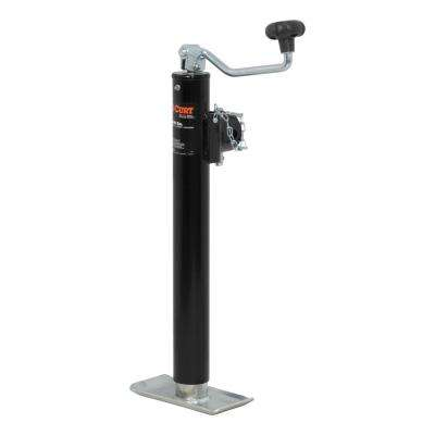 """Pipe-Mount Swivel Jack with Top Handle (5,000 lbs., 15"""" Travel)"""