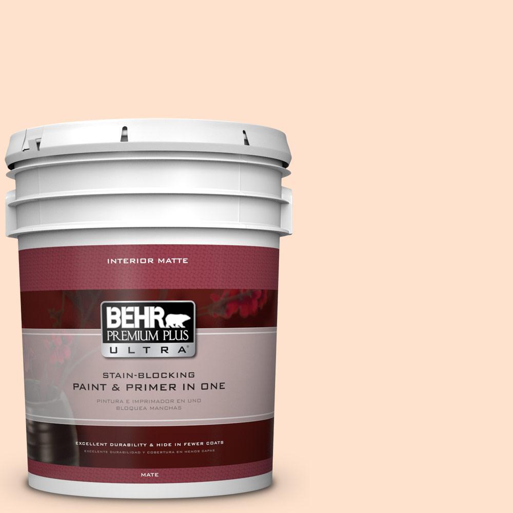 BEHR Premium Plus Ultra 5 gal. #P200-1 Melted Marshmallow Matte Interior Paint