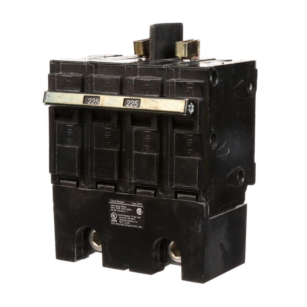 Siemens 225 Amp 4-Pole Type QPP Circuit Breaker
