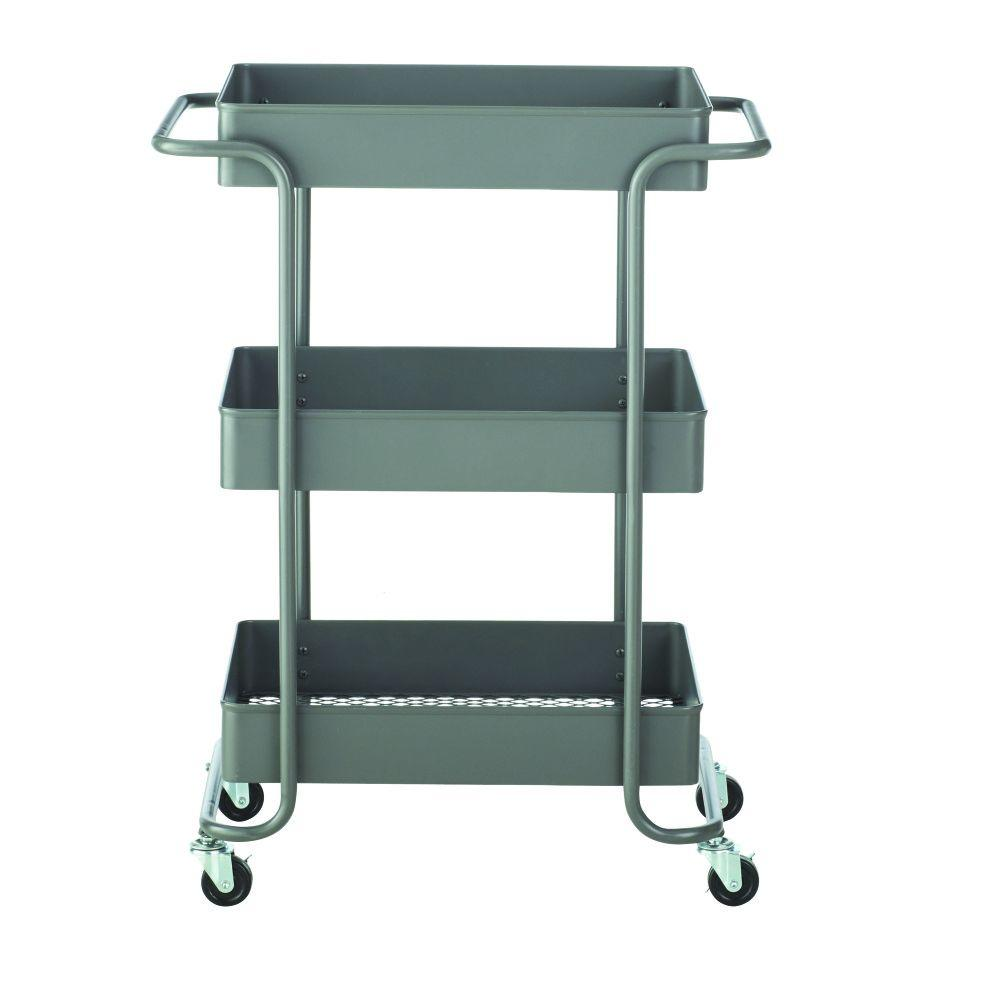 Steel Open Cart in Grey