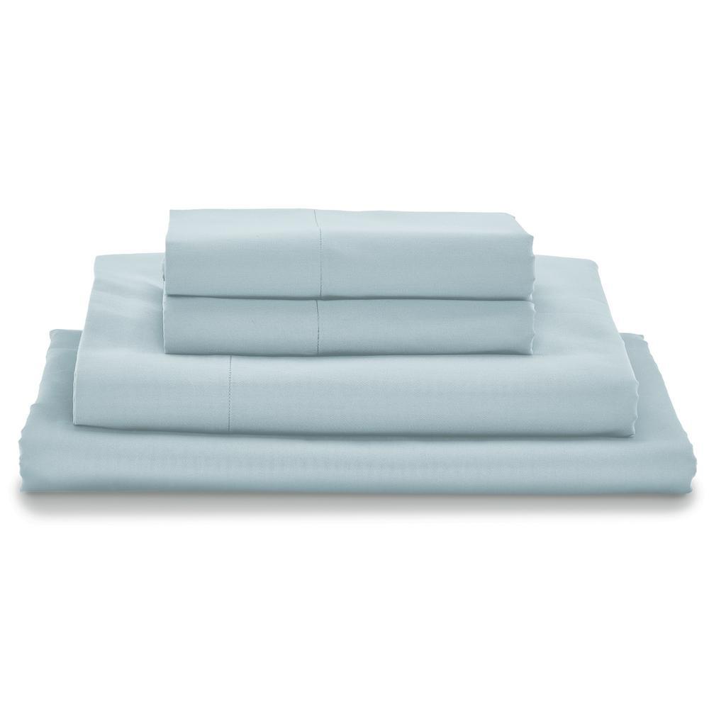 Giza Light Blue Queen Bed Sheet Set