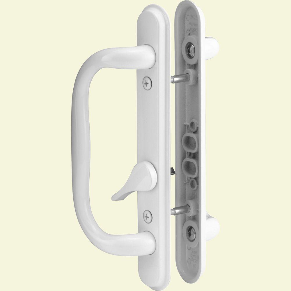 Prime-Line Sliding Door Handle Set, White
